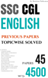 SSC CGL ENGLISH TopicWise Solved Papers: for combined graduate level Exam