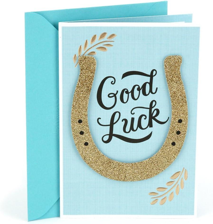 Hallmark Good Luck Greeting Card (Horseshoe) (0499RZB1285)