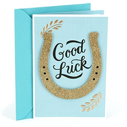 Amazon hallmark good luck greeting card horseshoe office hallmark good luck greeting card horseshoe m4hsunfo