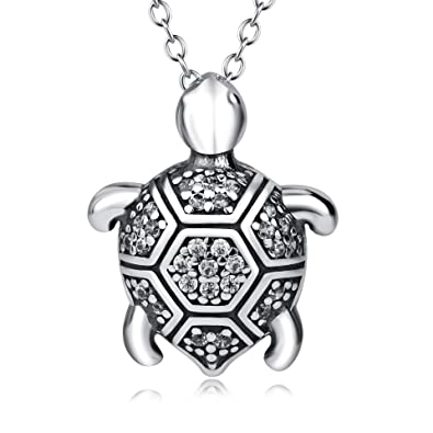 Amazon yfn sterling silver health and longevity sea turtle yfn sterling silver health and longevity sea turtle pendant necklace 18quot turtle mozeypictures Images