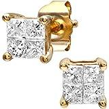 Naava Women's 9ct 0.33ct Diamond Stud Earrings