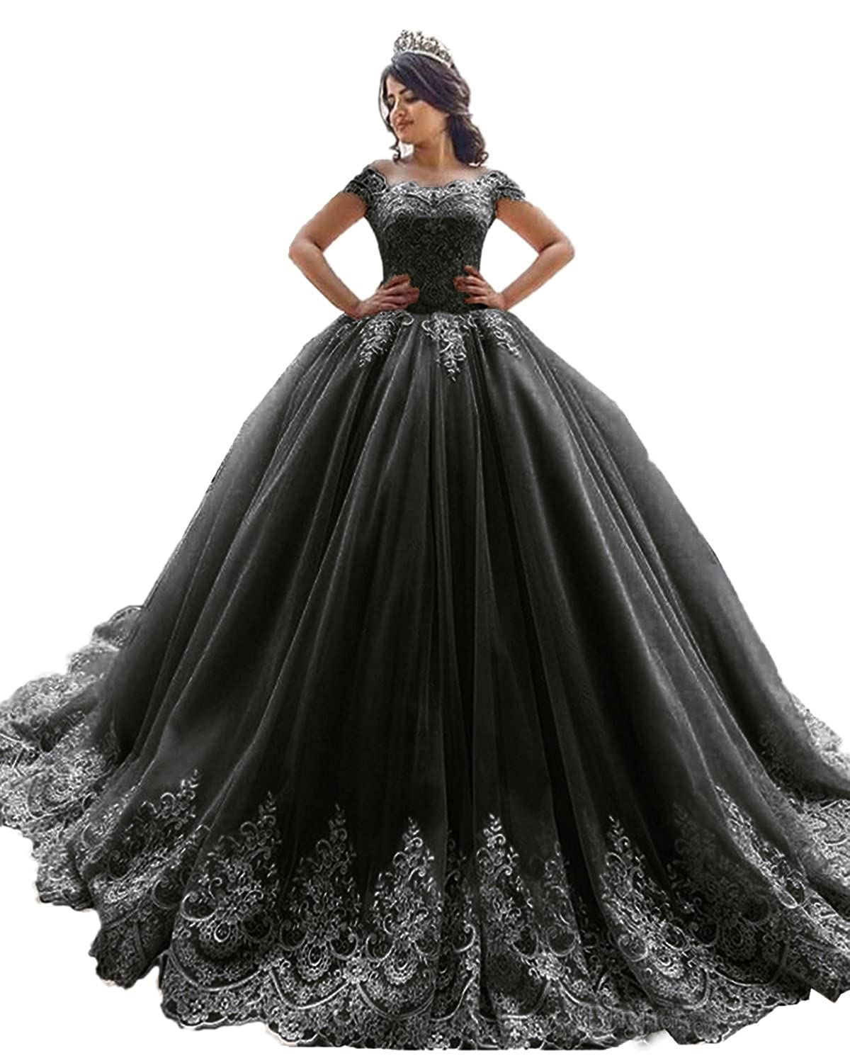 XSWPL Elegant Off The Shoulder Ball Gowns Prom Dress for Sweet 16 ...