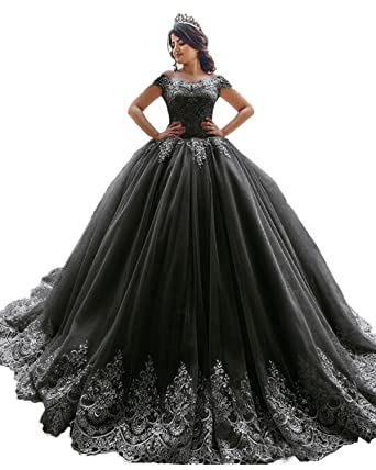 XSWPL Elegant Off The Shoulder Ball Gowns Prom Dress for Sweet 16  Quinceanera Dress Black US2 395599637