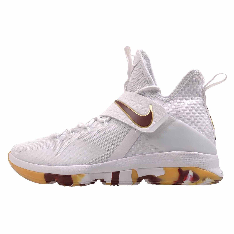 Nike Lebron XIV Mens Basketball Shoes 852405  9.5 White/Team Red Gum Light Brown
