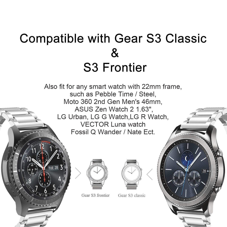 Samsung Gear S3 Frontier /Classic Correa, Correa De Reloj De 22mm ...