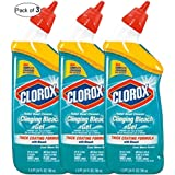 Clorox Toilet Bowl Cleaner with Clinging Bleach Gel (Pack of 3)