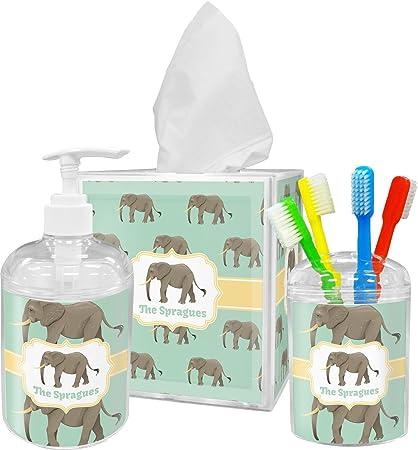 Genial RNK Shops Elephant Bathroom Accessories Set (Personalized)