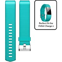 M@SKED® Replacement Wristband Silicon Wrist Strap Band for Fitbit Charge 2 / Charge 2 HR