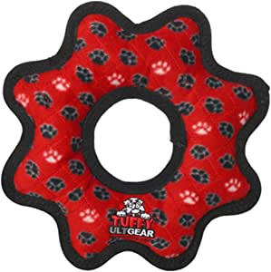 TUFFY-World's Tuffest Soft Dog Toy- Ultimate Gear Ring-Squeakers-Multiple Layers.Made Durable,Strong & Tough.Interactive Play(Tug,Toss & Fetch).Machine Washable & Floats