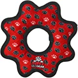 TUFFY-World's Tuffest Soft Dog Toy- Ultimate Gear Ring-Squeakers-Multiple Layers.Made Durable,Strong & Tough.Interactive Play