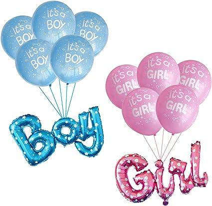 Aluminum Foil Inflatable Toys Balloon BOY GIRL ONE Word Decorative Balloon