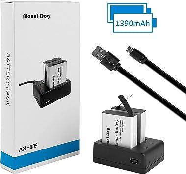 Amazon.com: Batería para cámara de acción, 2 baterías ...
