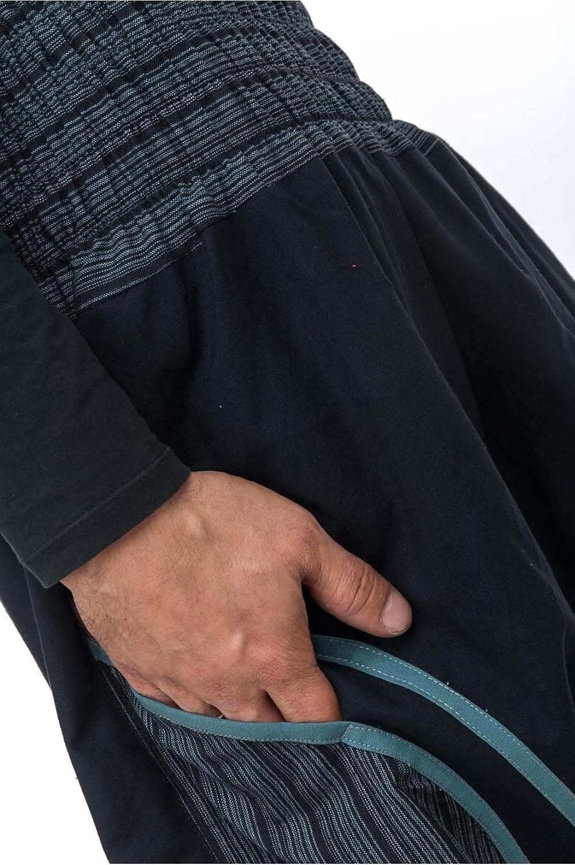 - Sarouel Large Smoke Black Black Streaks Pattaya -