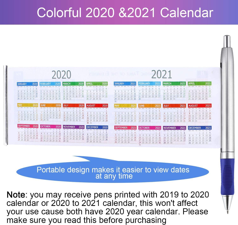 5 Pezzi Elementi Chimici Periodici Tavolo Penna a Sfera Penna con Calendario 2019 e 2020 per Amici Insegnanti Famiglia Regalo Creativo