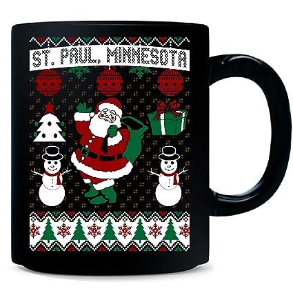 Amazoncom Christmas Ugly Sweater St Paul Minnesota Mug Kitchen