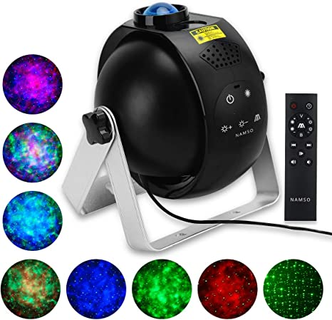 Amazon Com Namso Star Projector For Bedroom Galaxy Projector Sky Lite Night Light For Kids Gift For Girlfriend Dynamic Projector Lamp Laser Projector Game Room Sleeping Home Party Ceiling Wedding Home Improvement