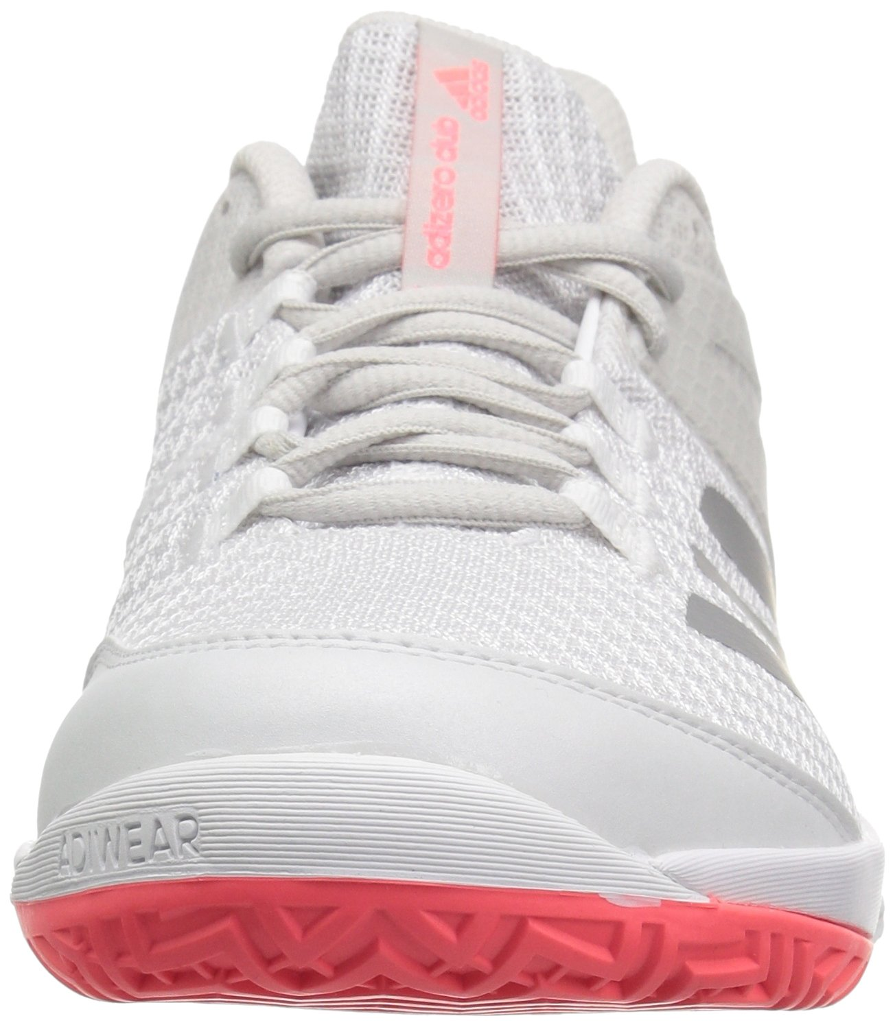 adidas Women's Adizero Club 2 Tennis Shoe B077X4QW77 7.5 B(M) US|White/Matte Silver/Grey