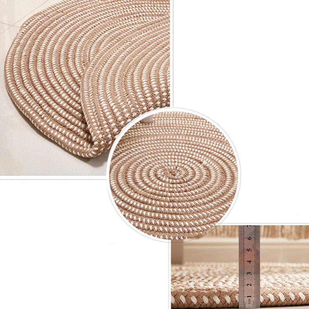 Yjs Tricot Rond Tapis Japonais Style Crochete A La Main Solide