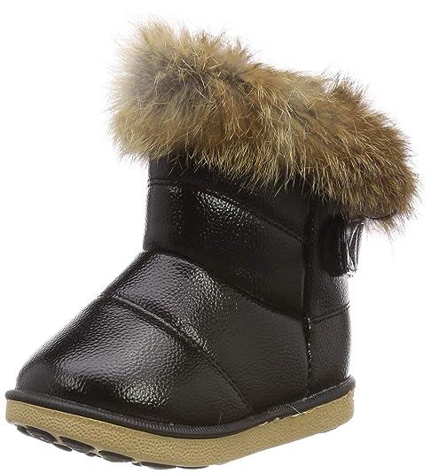 check out 16cbd a29e4 HUHU833 Kinder Mode Mädchen Baby Stiefel, Warme Watte Gepolsterten Schuhe  Kaninchen-Haar Dicker Schnee Stiefel Warm Schuhe