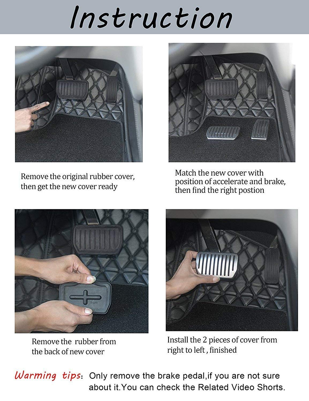 2/Pi/èces de lensemble antid/érapant Automotive Plaquettes de Frein et P/édale de gaz de Remplacement pour Tesla Model S//X