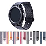 Gear S3 Frontier Band,Cumeou Nylon Replacement Bands 22mm Quick Release Breathable Bracelet Strap for Samsung Gear S3 Classic/Frontier/Huawei Watch 2 Classic/Pebble Classic/Time/Time Steel/2/2 SE