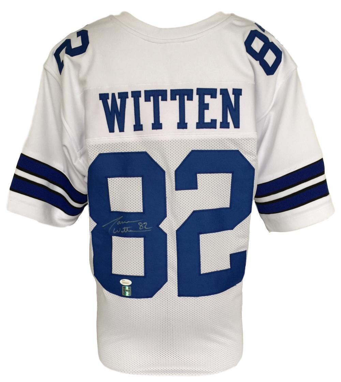 Jason Witten Signed Custom White Football Jersey JSA+Witten Holo Autographed Jersey