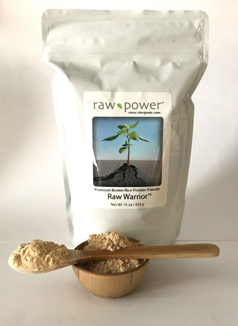 Raw Warrior Brown Rice Protein Powder, Raw Power (16 oz, Premium) by Raw Power
