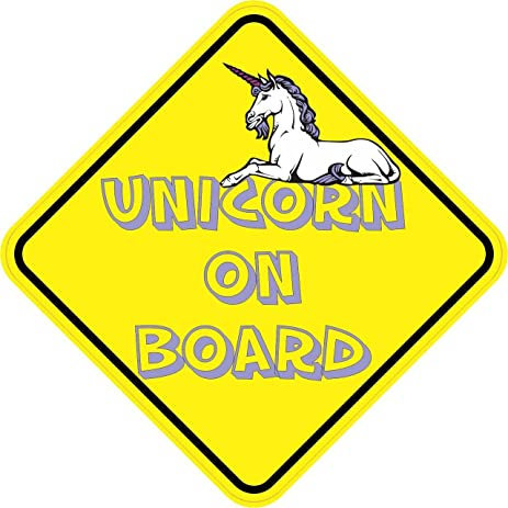 5in x 5in unicorn on board vinyl bumper stickers decals window sticker decal by stickertalk