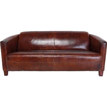 Ledercouch braun kare  Kare 77063 Sofa Cigar Lounge: Amazon.de: Küche & Haushalt