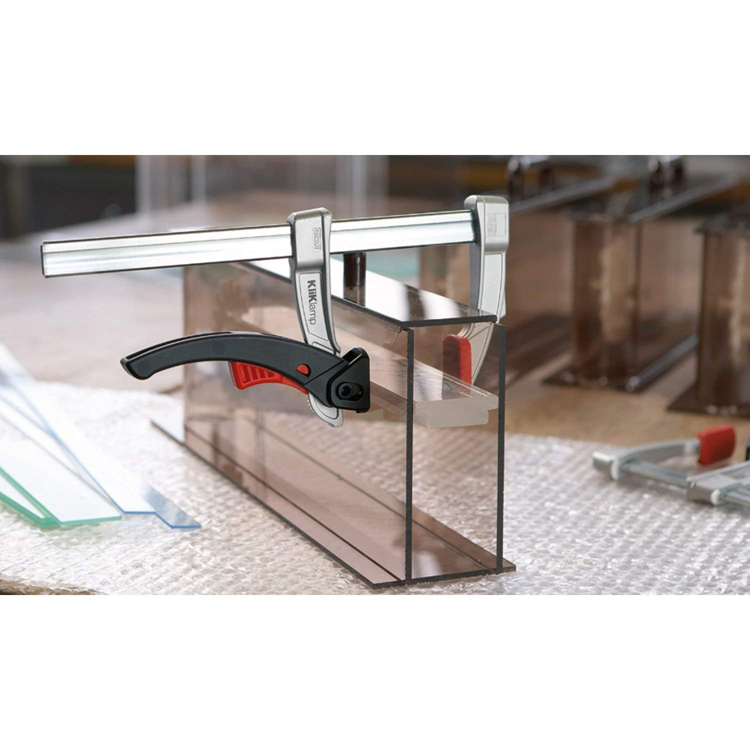 teilig Bessey KLI-S Kliklamp Systainer Set with 16 Clamps Silver
