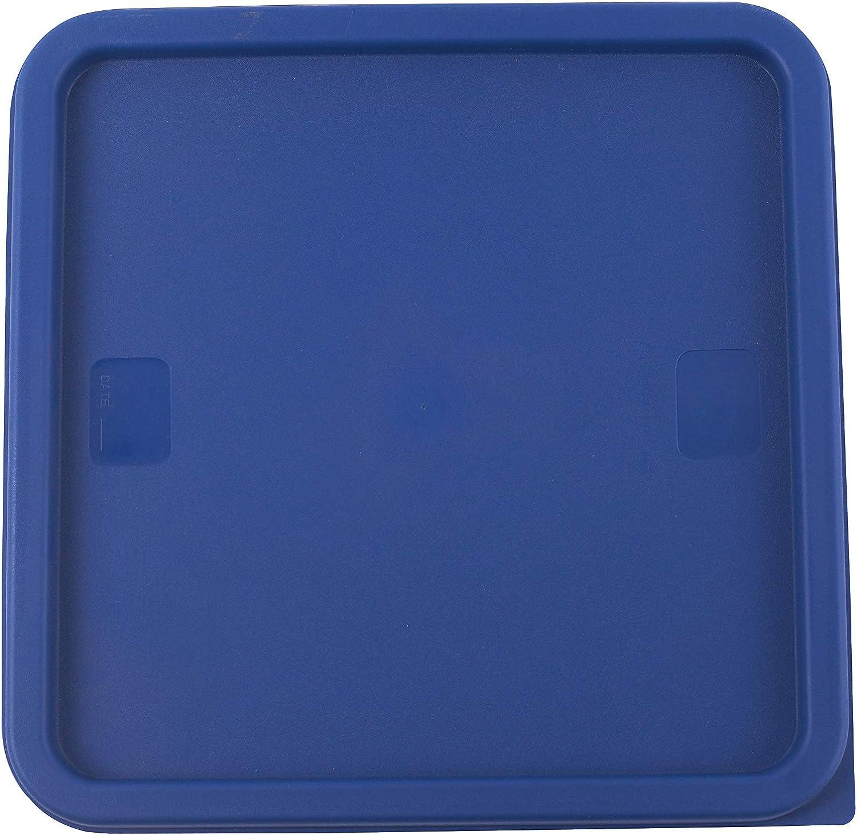Caspian 12, 18, 22 Qt. Blue Square Polycarbonate Food Storage Container Lid, 1 Piece (12、18、22QT Lid)