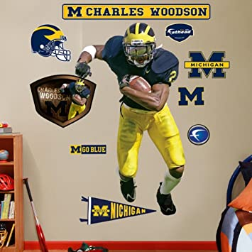 sale retailer 0de90 ae451 NCAA Michigan Wolverines Charles Woodson Wall Graphic, Fan ...