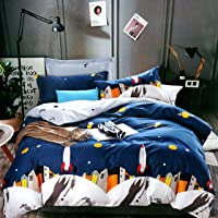 Blenzza Deco® Glace Cotton Cartoon Print Comforter for Single Bed with Attractive Luxury Bag Packing- Blue