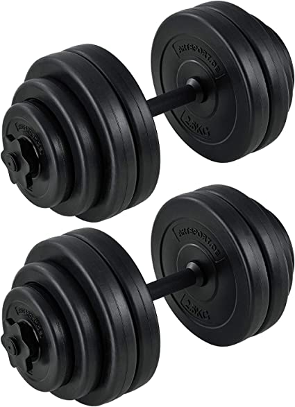 Hantelset 30kg Kurzhanteln Hantelscheiben Krafttraining Gewichte Hantelset