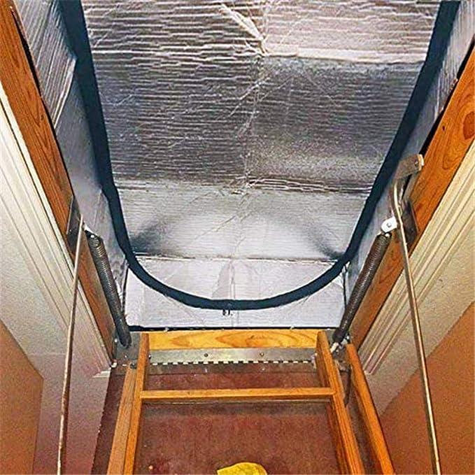 Motto.H - Tapa de Escalera de Granero para Puerta de Aluminio de Doble Cara con Tienda de Aislamiento para escaleras de Granero con Cierre de Cremallera, fácil Acceso: Amazon.es: Hogar