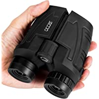 Occer 12x25 Compact Binoculars with Low Light Night Vision, Large Eyepiece High Power Waterproof Binocular Easy Focus for Outdoor Hunting, Bird Watching, Traveling, Hiking, Fit for Adults and Kids