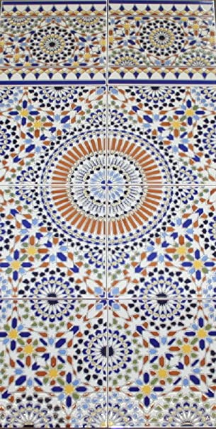 Keramikfliesen Samara Marokkanische Bunte Wandfliesen Küche - Bunte fliesen bad