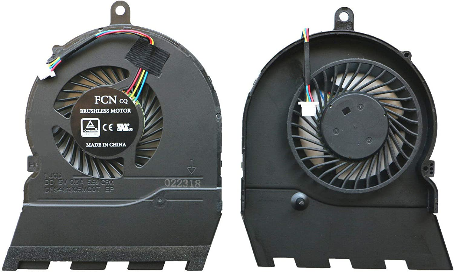 """Todiys CPU Cooling Fan for Dell Inspiron 15.6"""" 15G 5565 5567 17.3"""" 5767 17-5767 Laptop DFS481305VC0T EP DFS481305MC0T EP 4 Pins"""