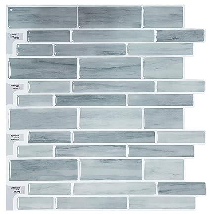 Surprising Crystiles Peel And Stick Diy Backsplash Tile Stick On Vinyl Wall Tile For Kitchen And Bathroom Item 91010848 10 X 10 1 Sheet Sample Home Remodeling Inspirations Genioncuboardxyz