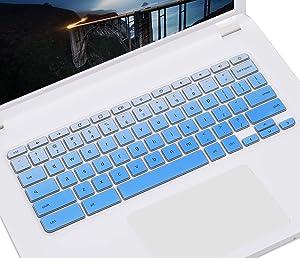 "Keyboard Cover Protective Skin for 2019/2018 Lenovo Chromebook C330 11.6""/Flex 11 Chromebook/Chromebook N20 N21 N22 N23 100e 300e 500e 11.6""/Chromebook N42 N42-20 14 inch Chromebook, Gradual Blue"