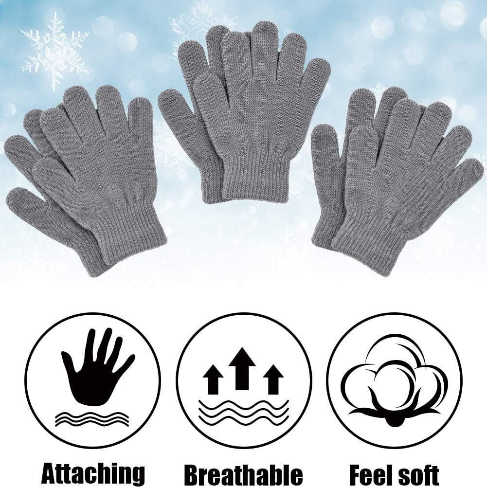 Kids Magic Gloves Pair Winter Warm Girls Boys Stretch Black Soft Children Nice
