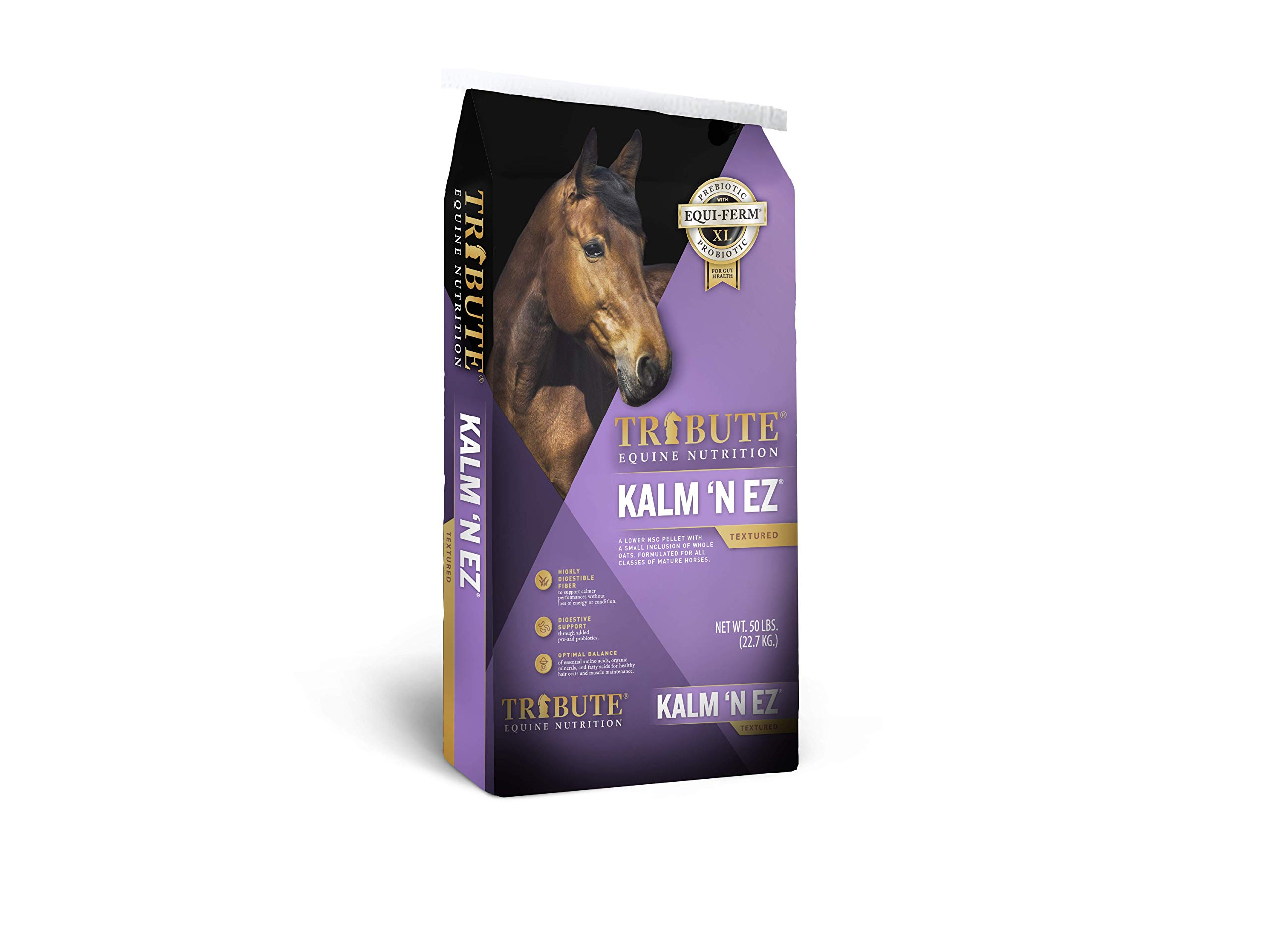 Kalmbach Feeds Tribute Kalm 'N Ez Textured for Horse, 50 lb by Kalmbach Feeds