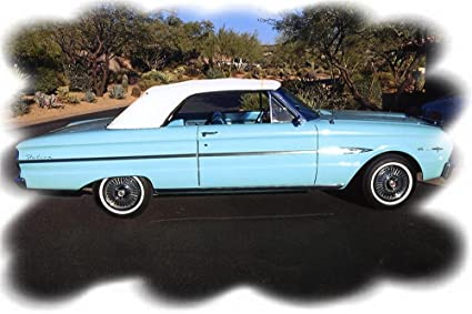 Amazon com : 1963 Ford Falcon Sprint Convertible Turquoise
