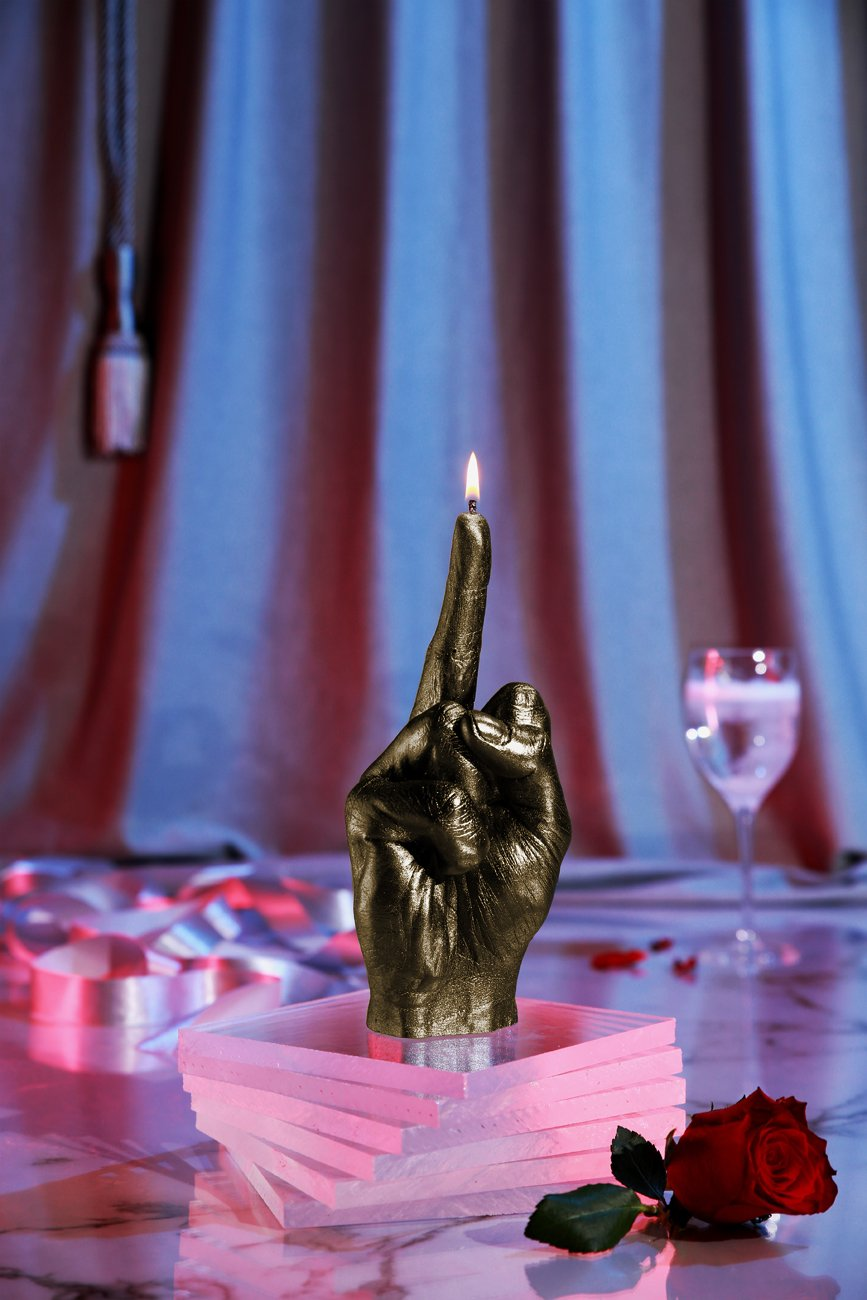 Candellana Candles Candellana- Middle Finger Candle-Brass,