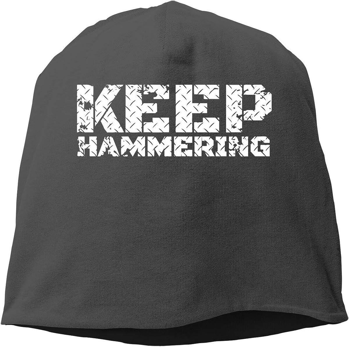 KUNPENG Keep Hammering Thin Women//Men Wool Hat Soft Stretch Beanies Skull Cap Unisex