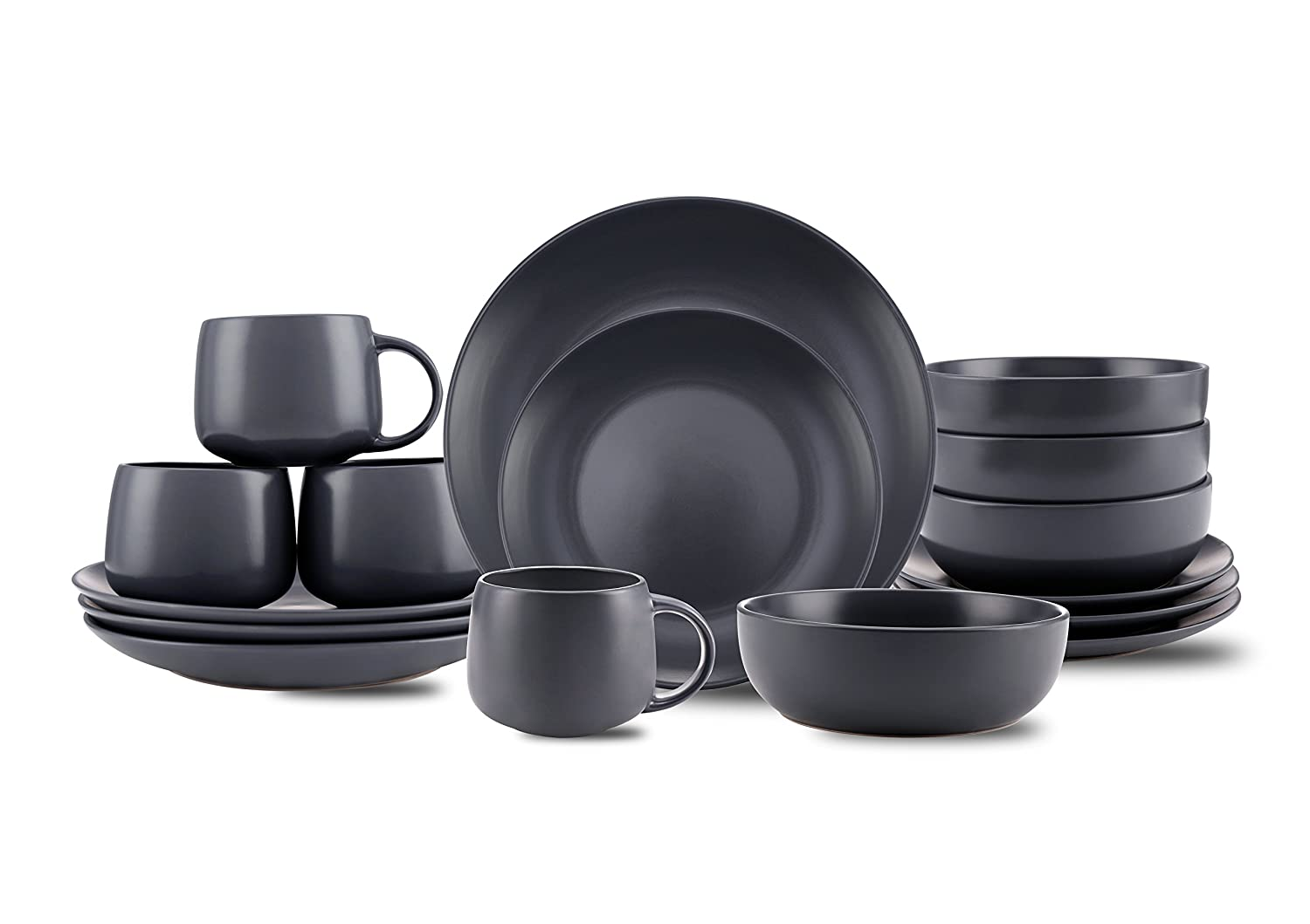 10 Strawberry Street Wazee Matte 16 Pc Coupe Dinnerware Set Charcoal Gray  sc 1 st  rcrcshop.top & 10 Strawberry Street Wazee Matte 16 Pc Coupe Dinnerware Set ...