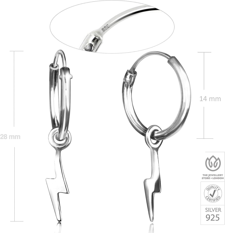 Hypoallerg/énique Boucles dOreilles Foudre Argent Sterling 925 Sans Nickel