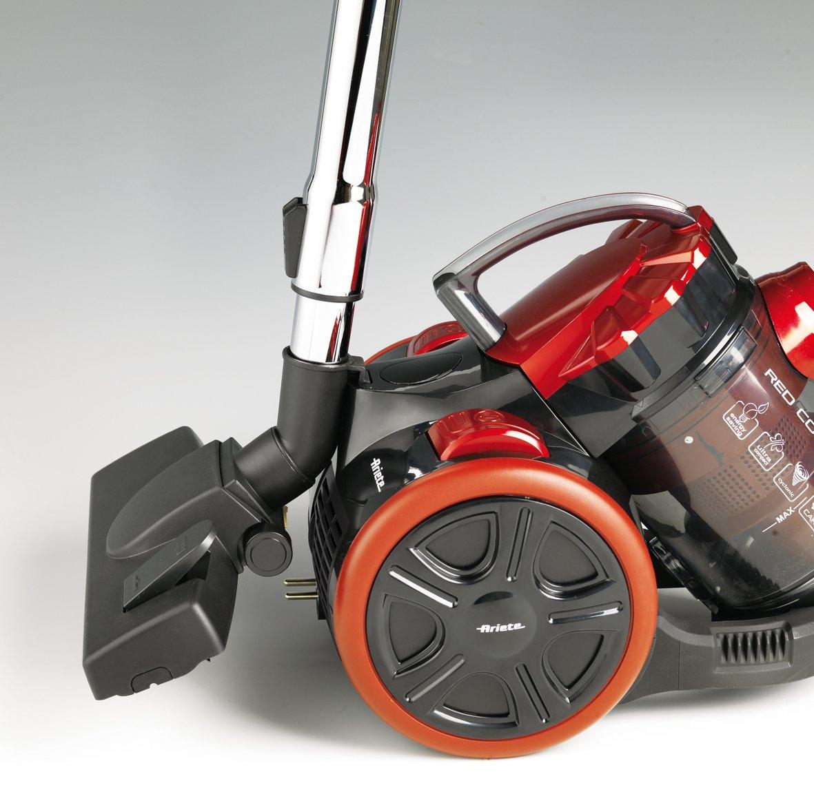 Ariete 2743 1601522743-Aspirador Compacto sin Bolsa, Negro, 700 W, 2 litros, 85 Decibeles, Rojo: Amazon.es: Hogar