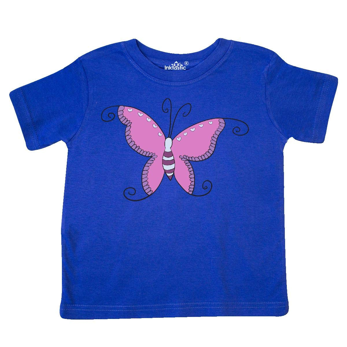 inktastic Purple Butterfly Toddler T-Shirt