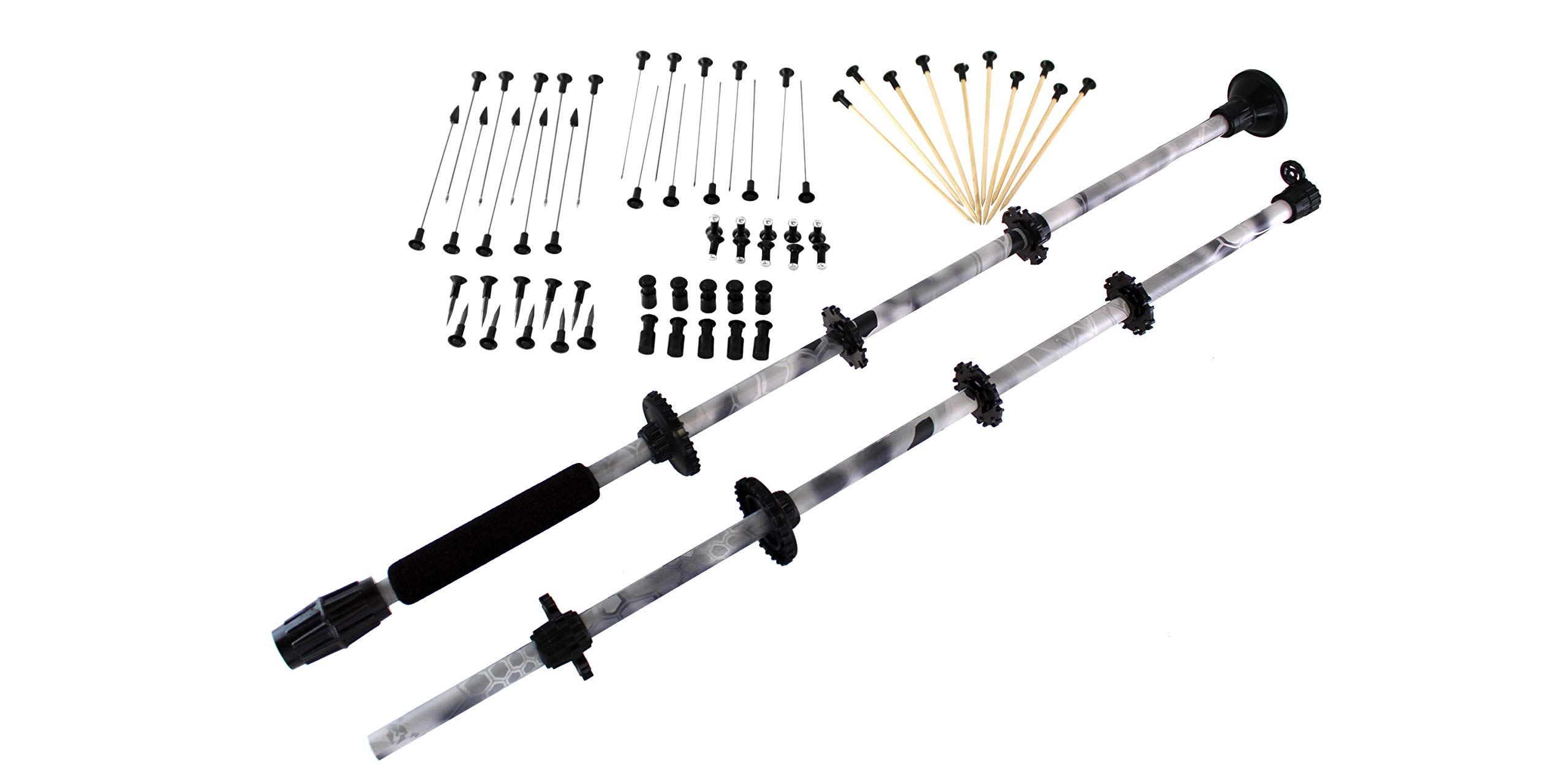BLUEGOBY Blowgun 48'' .40 Cal Kryptek Raid Blow Dart Gun Made in USA with Tactical Peep Sight, 10 Target Darts, 10 Bamboo, 5 Spear, 5 Broadhead, 10 Thumpers, 10 Stunners, 10 Spike Darts by BLUEGOBY
